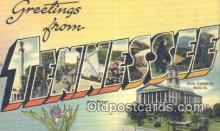 LLT201484 - Tennessee USA Large Letter Town Vintage Postcard Old Post Card Antique Postales, Cartes, Kartpostal