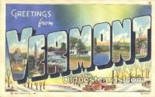 LLT201489 - Vermont USA Large Letter Town Vintage Postcard Old Post Card Antique Postales, Cartes, Kartpostal