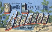 LLT201490 - Devils Lake State Park, Baraboo, Wisconsin USA Large Letter Town Vintage Postcard Old Post Card Antique Postales, Cartes, Kartpostal