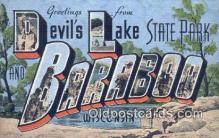 LLT201491 - Devils Lake State Park, Baraboo, Wisconsin USA Large Letter Town Vintage Postcard Old Post Card Antique Postales, Cartes, Kartpostal