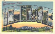 LLT201497 - Tennessee USA Large Letter Town Vintage Postcard Old Post Card Antique Postales, Cartes, Kartpostal