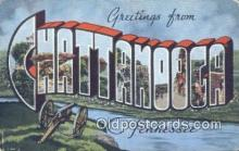 LLT201499 - Chattanooga, Tennessee USA Large Letter Town Vintage Postcard Old Post Card Antique Postales, Cartes, Kartpostal