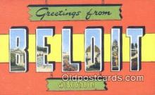 LLT201504 - Beloit, Wisconsin USA Large Letter Town Vintage Postcard Old Post Card Antique Postales, Cartes, Kartpostal
