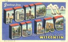 LLT201505 - Fond Du Lac, Wisconsin USA Large Letter Town Vintage Postcard Old Post Card Antique Postales, Cartes, Kartpostal
