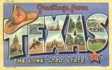 LLT201508 - Texas USA Large Letter Town Vintage Postcard Old Post Card Antique Postales, Cartes, Kartpostal