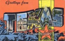 LLT201509 - Texas USA Large Letter Town Vintage Postcard Old Post Card Antique Postales, Cartes, Kartpostal