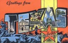 LLT201511 - Texas USA Large Letter Town Vintage Postcard Old Post Card Antique Postales, Cartes, Kartpostal