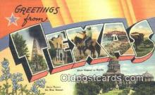 LLT201512 - Texas USA Large Letter Town Vintage Postcard Old Post Card Antique Postales, Cartes, Kartpostal