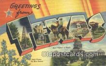 LLT201513 - Texas USA Large Letter Town Vintage Postcard Old Post Card Antique Postales, Cartes, Kartpostal