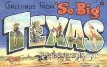 LLT201514 - Texas USA Large Letter Town Vintage Postcard Old Post Card Antique Postales, Cartes, Kartpostal