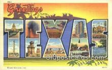 LLT201518 - Texas USA Large Letter Town Vintage Postcard Old Post Card Antique Postales, Cartes, Kartpostal