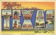 LLT201520 - Texas USA Large Letter Town Vintage Postcard Old Post Card Antique Postales, Cartes, Kartpostal