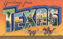 LLT201523 - Texas USA Large Letter Town Vintage Postcard Old Post Card Antique Postales, Cartes, Kartpostal