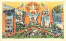 LLT201524 - Texas USA Large Letter Town Vintage Postcard Old Post Card Antique Postales, Cartes, Kartpostal