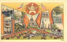 LLT201525 - Texas USA Large Letter Town Vintage Postcard Old Post Card Antique Postales, Cartes, Kartpostal