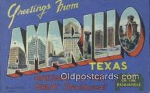 LLT201528 - Amarillo, Texas USA Large Letter Town Vintage Postcard Old Post Card Antique Postales, Cartes, Kartpostal
