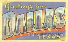LLT201538 - Dallas, Texas USA Large Letter Town Vintage Postcard Old Post Card Antique Postales, Cartes, Kartpostal