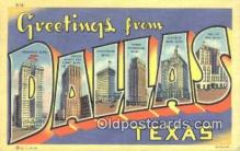 LLT201539 - Dallas, Texas USA Large Letter Town Vintage Postcard Old Post Card Antique Postales, Cartes, Kartpostal