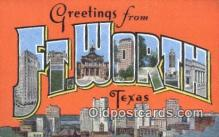 LLT201548 - Ft Worth, Texas USA Large Letter Town Vintage Postcard Old Post Card Antique Postales, Cartes, Kartpostal