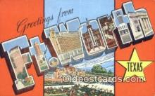 LLT201550 - Ft Worth, Texas USA Large Letter Town Vintage Postcard Old Post Card Antique Postales, Cartes, Kartpostal