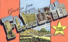LLT201551 - Ft Worth, Texas USA Large Letter Town Vintage Postcard Old Post Card Antique Postales, Cartes, Kartpostal