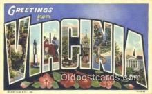LLT201561 - Virginia USA Large Letter Town Vintage Postcard Old Post Card Antique Postales, Cartes, Kartpostal