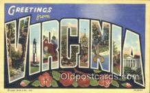 LLT201562 - Virginia USA Large Letter Town Vintage Postcard Old Post Card Antique Postales, Cartes, Kartpostal