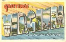 LLT201564 - Virginia USA Large Letter Town Vintage Postcard Old Post Card Antique Postales, Cartes, Kartpostal
