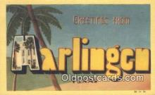 LLT201568 - Harlingen, Texas USA Large Letter Town Vintage Postcard Old Post Card Antique Postales, Cartes, Kartpostal