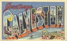 LLT201571 - Galveston, Texas USA Large Letter Town Vintage Postcard Old Post Card Antique Postales, Cartes, Kartpostal