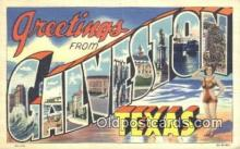 LLT201575 - Galveston, Texas USA Large Letter Town Vintage Postcard Old Post Card Antique Postales, Cartes, Kartpostal