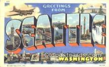 LLT201578 - Seattle, Washington USA Large Letter Town Vintage Postcard Old Post Card Antique Postales, Cartes, Kartpostal