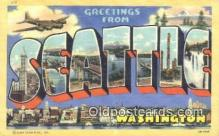 LLT201579 - Seattle, Washington USA Large Letter Town Vintage Postcard Old Post Card Antique Postales, Cartes, Kartpostal