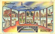 LLT201584 - Spokane, Washington USA Large Letter Town Vintage Postcard Old Post Card Antique Postales, Cartes, Kartpostal