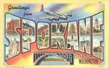 LLT201585 - Spokane, Washington USA Large Letter Town Vintage Postcard Old Post Card Antique Postales, Cartes, Kartpostal