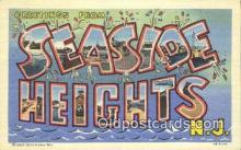 LLT201587 - Seaside Heights, NJ USA Large Letter Town Vintage Postcard Old Post Card Antique Postales, Cartes, Kartpostal