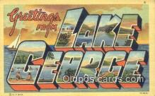 LLT201592 - Lake George, NY USA Large Letter Town Vintage Postcard Old Post Card Antique Postales, Cartes, Kartpostal