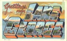 LLT201593 - Lake George, NY USA Large Letter Town Vintage Postcard Old Post Card Antique Postales, Cartes, Kartpostal