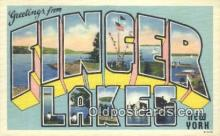 LLT201597 - Finger Lakes, New York USA Large Letter Town Vintage Postcard Old Post Card Antique Postales, Cartes, Kartpostal