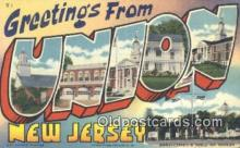 LLT201598 - Union, New Jersey USA Large Letter Town Vintage Postcard Old Post Card Antique Postales, Cartes, Kartpostal