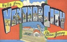 LLT201604 - Ventnor City, New Jersey USA Large Letter Town Vintage Postcard Old Post Card Antique Postales, Cartes, Kartpostal