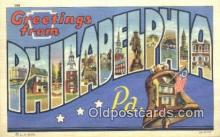 LLT201605 - Philadelphia, PA USA Large Letter Town Vintage Postcard Old Post Card Antique Postales, Cartes, Kartpostal