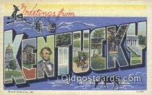 LLT201606 - Kentucky USA Large Letter Town Vintage Postcard Old Post Card Antique Postales, Cartes, Kartpostal
