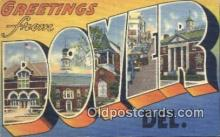 LLT201607 - Dover, Del USA Large Letter Town Vintage Postcard Old Post Card Antique Postales, Cartes, Kartpostal