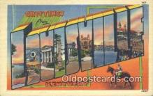 LLT201611 - Louisville, Kentucky USA Large Letter Town Vintage Postcard Old Post Card Antique Postales, Cartes, Kartpostal