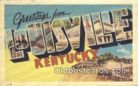 LLT201616 - Louisville, Kentucky USA Large Letter Town Vintage Postcard Old Post Card Antique Postales, Cartes, Kartpostal