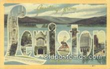 LLT201620 - Lewiston, Maine USA Large Letter Town Vintage Postcard Old Post Card Antique Postales, Cartes, Kartpostal