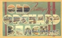 LLT201621 - Old Orchard Beach, ME USA Large Letter Town Vintage Postcard Old Post Card Antique Postales, Cartes, Kartpostal