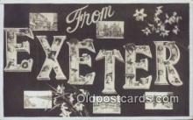LLT201629 - Exeter USA Large Letter Town Vintage Postcard Old Post Card Antique Postales, Cartes, Kartpostal