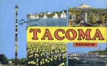 LLT201630 - Tacoma, Washington USA Large Letter Town Vintage Postcard Old Post Card Antique Postales, Cartes, Kartpostal